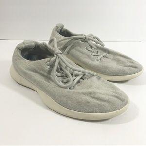allbirds women's light gray wool sneakers size 9